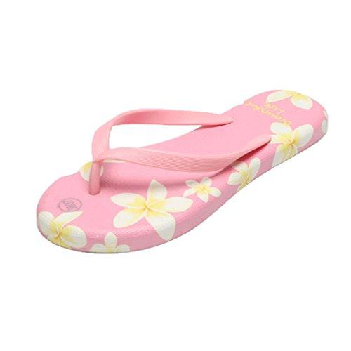 Vovotrade® Sommer Frauen Sandalen Flip-Flops Sandy Beach Bad Kühler Hausschuhe Schuhe Rosa