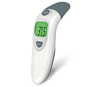 Ear and Forehead Thermometer, Hkiytime Professional Precision Infrared Digital Thermometer for Baby, Children and Adult with Instant Reading, Fever Warning, Clinical Monitoring, CE and FDA Certified