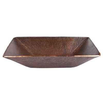 Modern Rectangular Hand Forged Old World Copper Vessel Sink