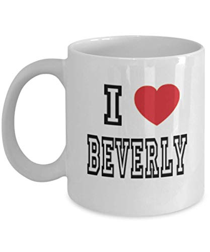 11oz I Love Beverly Mug Lover Gift Coffee Funny Idea Tea Cup Cute Ceramic Present Gag,al3221