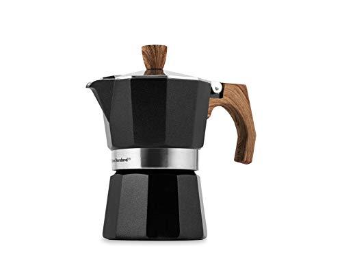 Officine Standard 602574 – Cafetera de aluminio, mango efecto madera, 3 tazas