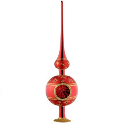 "Inge Glas Christmas Tree Topper ""Starry Night Finial"" 1-091-09"