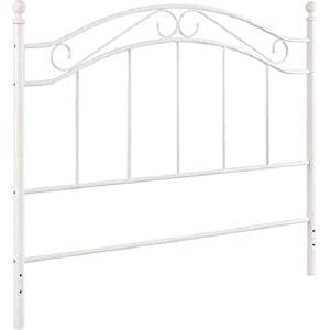 white bed mainstays fits fullqueen metal headboard frames
