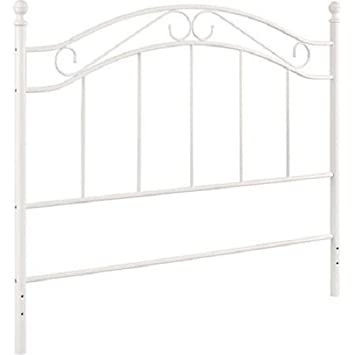 white bed mainstays fits fullqueen metal headboard frames - Full White Bed Frame