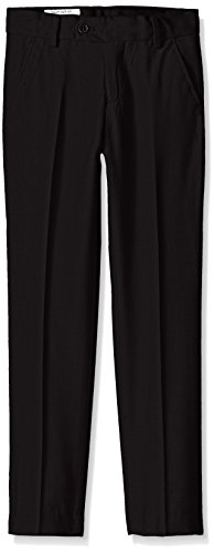 Isaac Mizrahi Boys' Big Wool Blend Slim Pant, Black, 16
