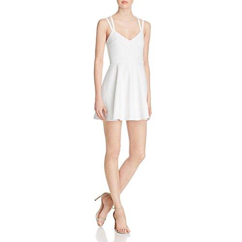 (French Connection Women's Whisper Light Sleeveless Strappy Stretch Mini Dress, Summer White,)
