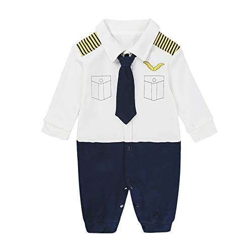 (Yilaku Baby Boy Outfits Set, 3pcs Long Sleeves Gentleman Jumpsuit & Vest Coat & Berets Hat with Bow Tie(18-24Month-Navy))