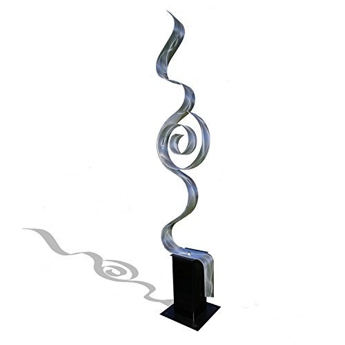 Abstract Silver Metal Sculpture - Looking Forward