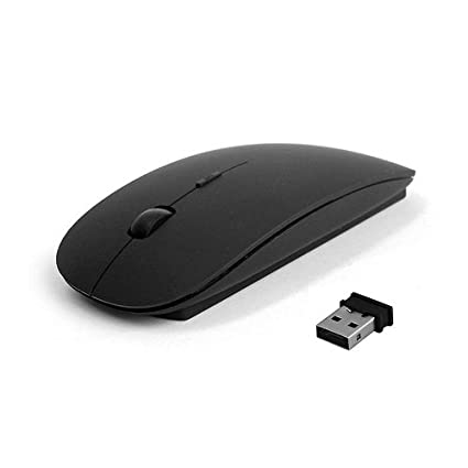 07acab607d6 Amazon.in: Buy Smacc Ultra Slim Wireless Mouse 2.4 GHz Nano Receiver, Black  Online at Low Prices in India | SMACC Reviews & Ratings