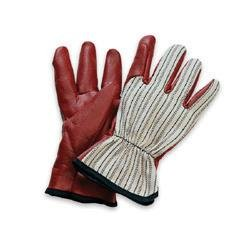 North Medium Worknit HD Glove With Nitrile Coated Palm And Index Finger, Slip-On Cuff & Black Stripe Back ()
