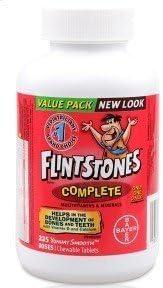 Flintstones Chewable Multiple Vitamins Complete Value Pack 225 Tablets