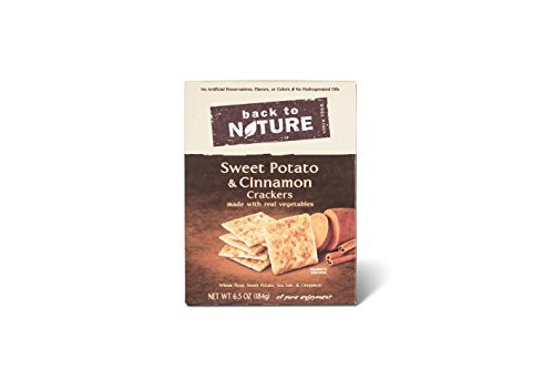 Back to Nature Sweet Potato and Cinnamon Cracker, 6.5 Ounce -- 6 per case.
