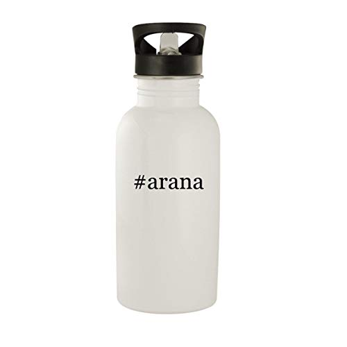 #arana - Stainless Steel Hashtag 20oz Water Bottle, White