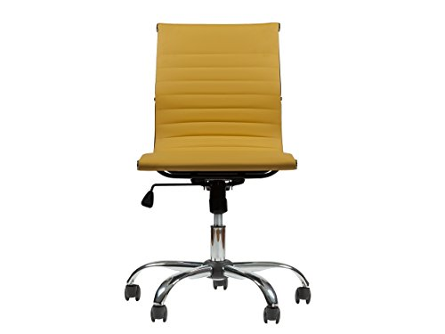 Mid-Back Leather Office & Home Conference, Desk, Task Chair MZN-6160 (YELLOW) by Winport Furniture