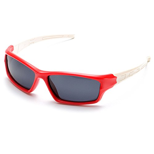 TIJN Stylish Kids Rubber Polarized Wrap Sunglasses for Children - Inexpensive Sunglasses Brands