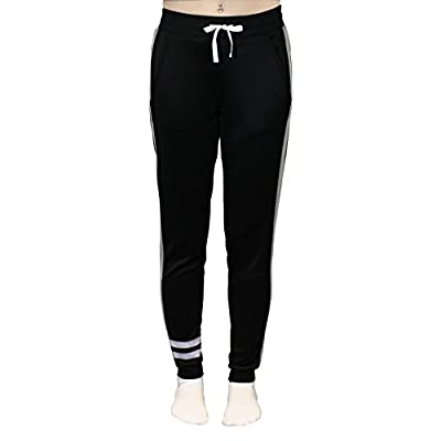 Just One Women's Tie Waist Active Yoga Jogger Pants With Contrast Side Panels