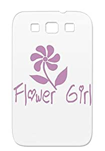 Shatterproof Purple Flower Girl Wedding Case For Sumsang Galaxy S3 Party Bride To Be Holidays Occasions Weddings Girl Marriage