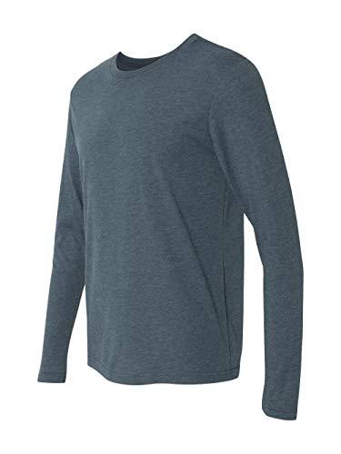 Next Level Men's Performance Blended Long Sleeve Jersey, Large, Indigo from Next Level