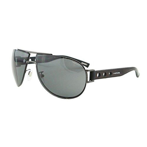 Chopard SCH B32 K10P Men Mille Miglia Racing Black Polarized Aviator - Mille Chopard Sunglasses Miglia