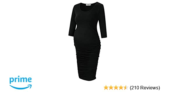 819235c7562ef Shops Coolmee MissQee Maternity Dress Ruched Round Neck Maternity Dresses  X7-H698-8YZA