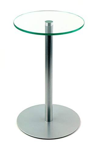 freeroom24 Table d'appoint Johanna en argent brillant, Ø 30 x hauteurs différentes (80)