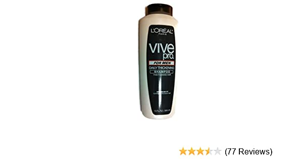 Amazon.com   L Oreal Paris Vive Pro For Men Daily Thickening Shampoo ... f37d3a6eb6