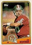 1988 Topps Joe Montana Football Card #38 - Shipped In Protective Display Case!
