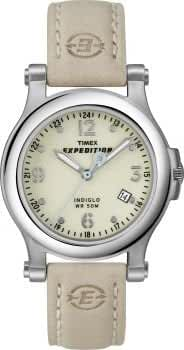 Unisex Timex T49813@Tmx Wmns Expedition Field Cream Dial Cream Lthr Strap