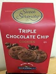 Sweet Serenity Triple Chocolate Chip Cookies with Ghirardelli Chocolate 8 oz
