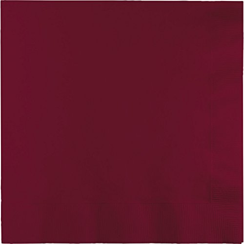 (Creative Converting Paper Napkins, 3-Ply Luncheon Size, Burgundy Color, 50-Count Packages (Pack of 5))