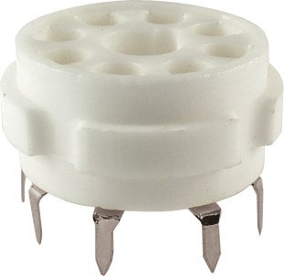 Vacuum Tube Socket, 8 Pin / Octal, Ceramic, PC (Octal Socket)