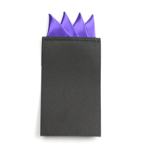 - Sey's handkerchief - Fashion Men Solid Color Pocket Square Handkerchief Prefold Wedding Party Hanky / Purple Color