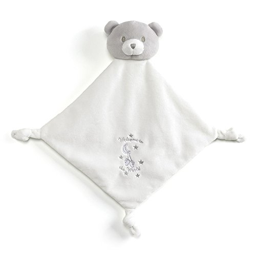 Gund Baby Little Me Lovey White Baby Blanket Welcome to The World Plush, 12 inches
