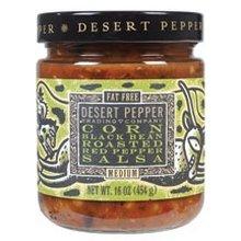 Desert Pepper Trading Co, Corn, Black Bean, Red Pepper Salsa, 16 Oz (Pack of 3)