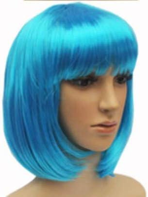 costume de f/ête fille bleue Goodplan Perruque courte de qualit/é sup/érieure pour fille avec bangs perruques cosplay robe fantaisie
