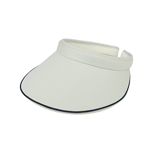 MG Women's Cotton Twill Clip-On Visor-4115-PUTTY
