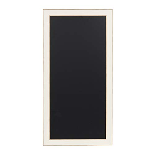 DesignOvation Wyeth Framed Magnetic Chalkboard, White