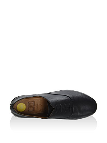Fitflop Dames F-pop Leer Oxford Zwart