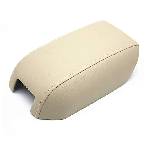 DSparts Center Console Lid Armrest Cover Leather for Volvo XC90 2003-2014 Beige Leather Part Only