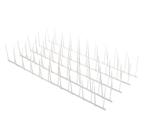 Pigeon Spikes - Bird Blinder Polycarbonate Bird Spikes for Pigeons and other Small Birds - (16 foot coverage)