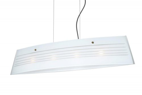 Besa Lighting LS4-445510-BR 4X40W G9 Silhouette 36 Pendant with Opal Cut Glass, Bronze Finish
