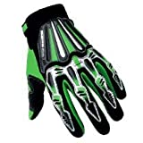Motocross Motorcycle BMX MX ATV Dirt Bike Skeleton Racing Gloves Green