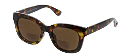 Stage Glass (Peepers Women's Center Stage Bifocal Square Sunglasses, Tortoise, 2 2)