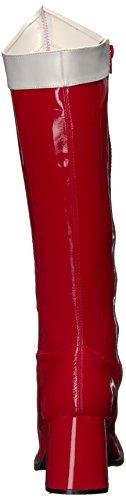 Funtasma Womens Gogo-306 Gambaletto Alto Rosso / Bianco Elasticizzato