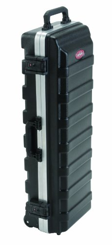 SKB Compact Stand Case 36-1/2 x 11-7/8 x 8-1/4 with Wheels & Straps, TSA Latches, Over molded Handle by SKB