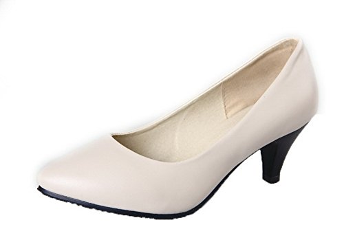 Tirare Flats Ballet Medio 34 Luccichio Moolarmi Donna Punta Chiusa Tacco Beige Puro 4qzn0wx8t