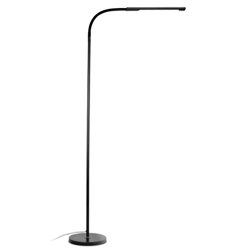 Modern Style Floor - Byingo 12W Dimmable Touch Sensor Switch LED Reading Floor Lamp - Modern Simplicity Style - 4 Color Modes Stepless Dimming - Fully Adjustable Long Gooseneck, for Sofa/Desk Reading, Living Room, Bedroom