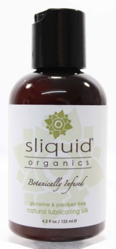 Natural Lubricating Silk Botanically Infused by Sliquid Organics 4.2oz (Original packaging as shown in the picture), Health Care Stuffs