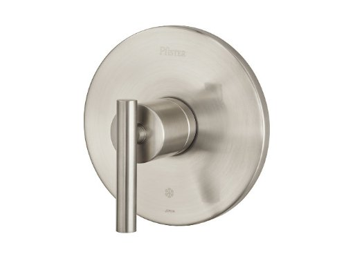 Pfister R89-1NC Contempra Single Handle Pressure Balanced Valve Trim Only with M, Brushed Nickel Contempra Shower Faucet