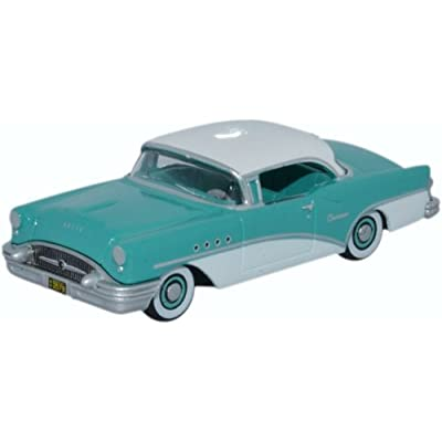 Buick Century, turqois/white, 1955, Model Car, Ready-made, Oxford 1:87: Oxford: Toys & Games